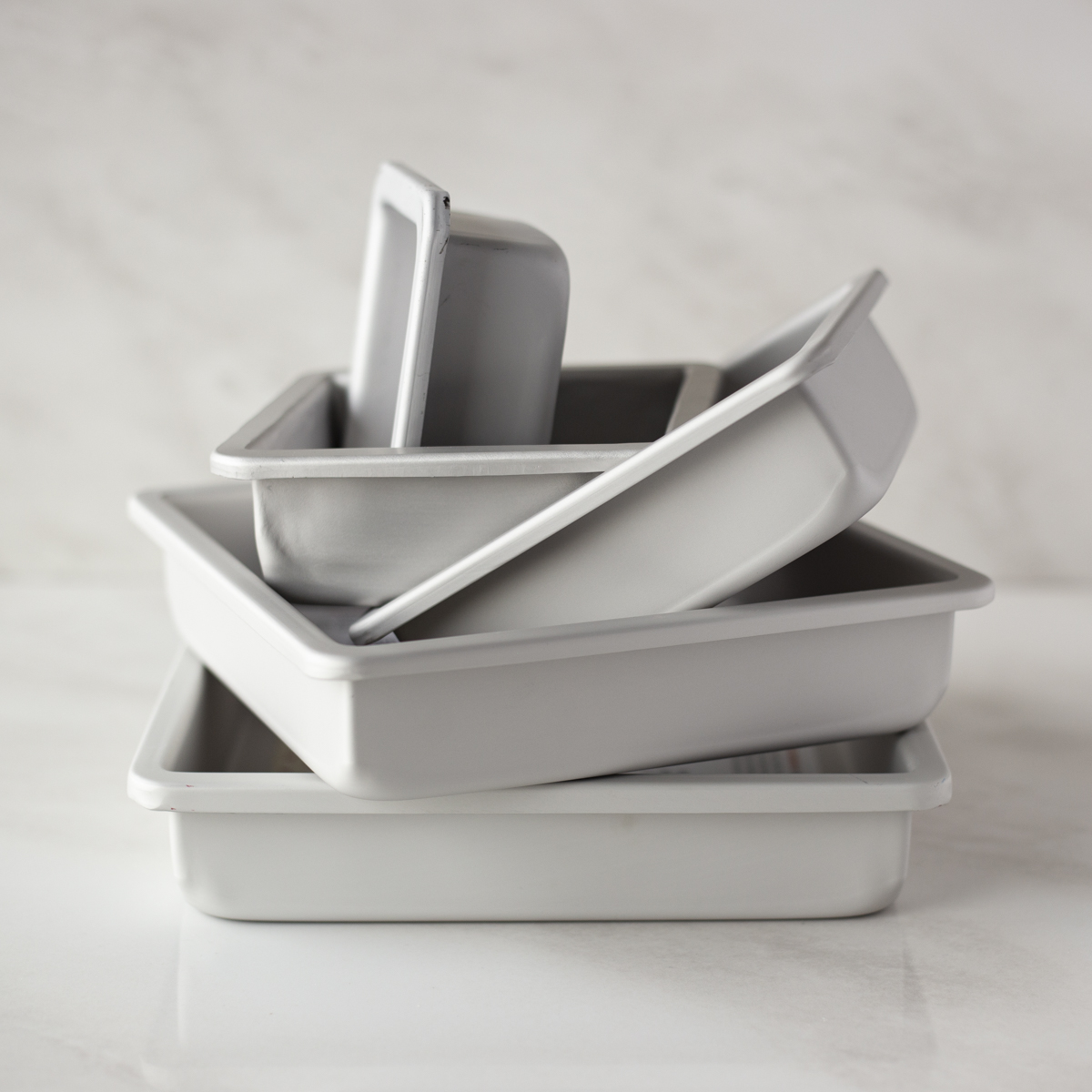 Fat Daddios Square Cake Pan Solid Bottom 4x4x2