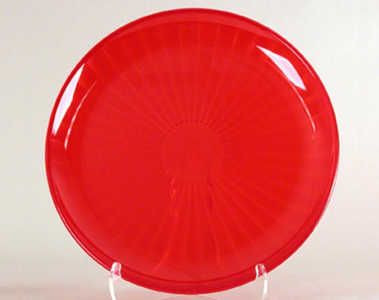 round serving tray plastic